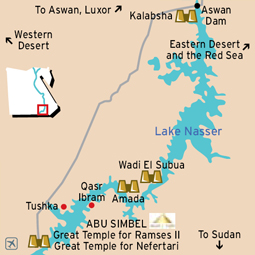 Abu Simbel Map