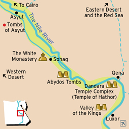 Asyut to Dandara Map