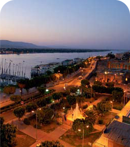 Luxor Temple and the Nile corniche