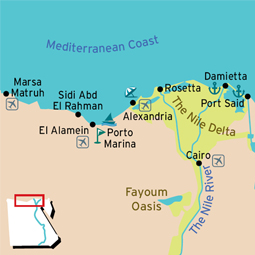 Mediterranean Coast Map