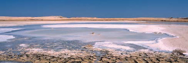 Salted lake near Ras Mohammed National Park