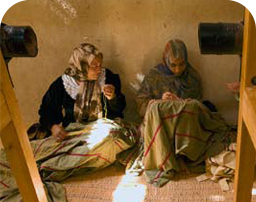 Women knitting in Farafra