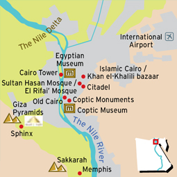 Pyramids In Egypt Map.Egypt Maps Egypt General Map Map Of Egypt Memphis Tours