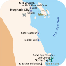 Golf Courses In Red Sea Egypt Information About Red Sea Golf - Map of egypt hotels